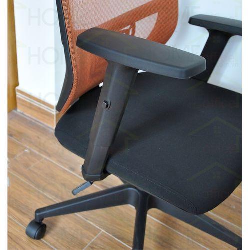 3 Ghế xoay văn phòng lưng lưới có tựa đầu chống mỏi màu cam FSGVP916H