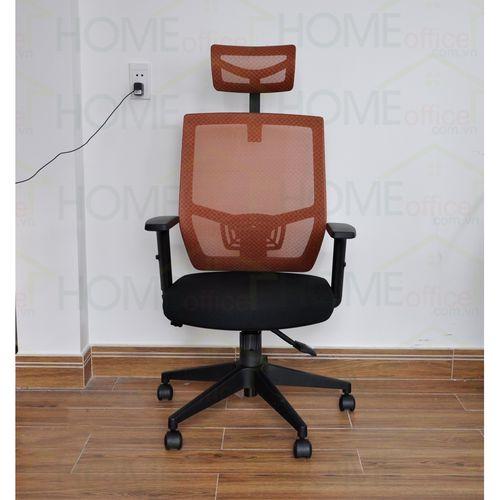 1 Ghế xoay văn phòng lưng lưới có tựa đầu chống mỏi màu cam FSGVP916H