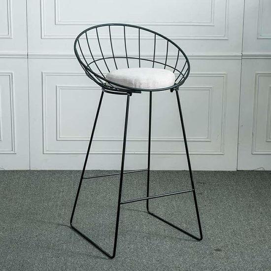 ghế cafe cao chân sắt có lưng tựa